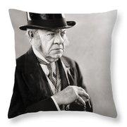 Silent Still: Single Man Throw Pillow