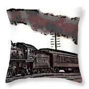 1800's Steam Train Throw Pillow