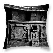1800's Stove Black And White Throw Pillow