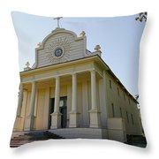 1840s Cataldo Mission - Idaho State Throw Pillow