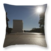 Honor Guard At The Tomb Throw Pillow