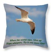 19- Hope Whispers Throw Pillow