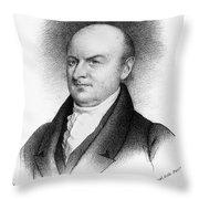 John Quincy Adams Throw Pillow