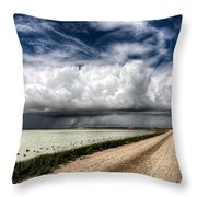 Storm Clouds Saskatchewan Throw Pillow