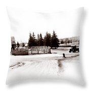 1900 Farm Throw Pillow