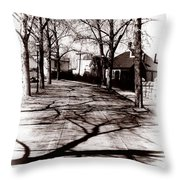 1900 Street Throw Pillow