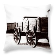 1900 Wagon Throw Pillow