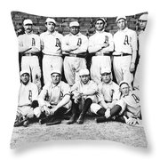 1902 Philadelphia Athletics Throw Pillow by Bill Cannon