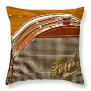 1904 Fiat 75 Hp Alessio Touring Grille Emblem Throw Pillow