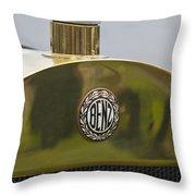 1908 Benz Grand Prix Hood Emblem Throw Pillow