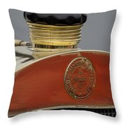 1908 Mercedes 150 Hp Race Car Hood Emblem Throw Pillow