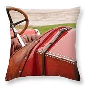 1911 Fiat S61 Steering Wheel Throw Pillow
