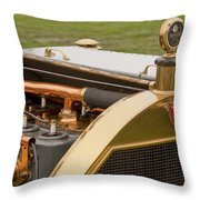 1912 Mercer Model 35 C Raceabout Engine And Motometer Throw Pillow