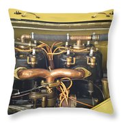 1912 Mercer Raceabout Engine Throw Pillow