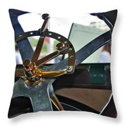 1913 Chalmers - Steering Wheel Throw Pillow