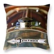 1913 Pathfinder 5-passenger Touring Hood Ornament Throw Pillow