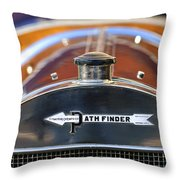 1913 Pathfinder Touring Hood Ornament Throw Pillow