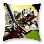 1914 Rolls-royce Silver Ghost Controls Throw Pillow