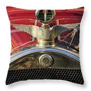 1915 Brewster-knight Model 41 Landaulet Hood Ornament 2 Throw Pillow