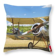 1916 Sopwith Pup Biplane On Airfield Canvas Photo Poster Print Throw Pillow
