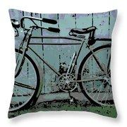 1918 Harley Davidson Bicycle Throw Pillow