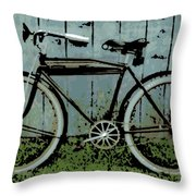 1919 Indian Bike Throw Pillow