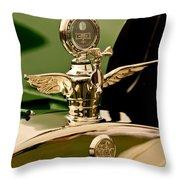 1919 Mcfarlan Type 125 Touring Motometer - Hood Ornament Throw Pillow