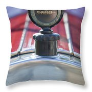 1919 Pierce-arrow Model 48 Dual Valve Roadster Hood Ornament Throw Pillow
