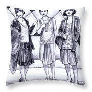 1920s Styles Throw Pillow