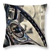 1924 Packard - Steering Wheel Throw Pillow
