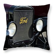 1925 Ford Model T Coupe Grille Throw Pillow