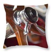1925 Stutz 695 Speedway Sportster Steering Wheel Throw Pillow