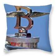 1927 Bentley 6.5 Liter Sports Tourer Hood Ornament Throw Pillow