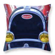 1927 Bugatti Replica Grille Headlights Throw Pillow