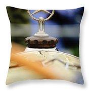 1927 Mercedes-benz S Hood Ornament Throw Pillow