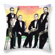 1927 New Yorkers Jazz Band Throw Pillow