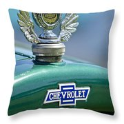 1928 Chevrolet Stake Bed Pickup Hood Ornament Throw Pillow