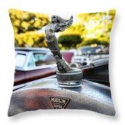 1928 Hudson Super Six Roadster Hood Ornament Throw Pillow