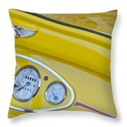 1929 Ford Model A Roadster Dashboard Instruments Throw Pillow