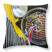1929 Ford Model A Roadster Wheel Throw Pillow