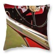 1929 Graham-paige Model 837 Lebaron Sport Phaeton Steering Wheel Throw Pillow