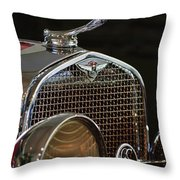 1929 Lasalle Hood Ornament Throw Pillow