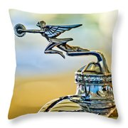 1929 Packard Hood Ornament Throw Pillow