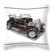 1930 Ford Model A Roadster Throw Pillow