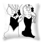 1930s Deco Ladies Throw Pillow