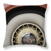 1931 Cadillac Roadster Wheel Throw Pillow