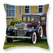 1931 Cadillac V12 Throw Pillow