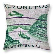 1931 Canal Zone Stamp Throw Pillow