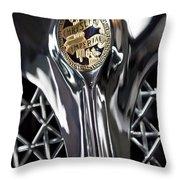 1931 Chrysler Cg Imperial Roadster Hood Emblem Throw Pillow