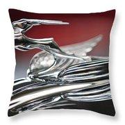 1931 Chrysler Cg Imperial Roadster Hood Ornament Throw Pillow
